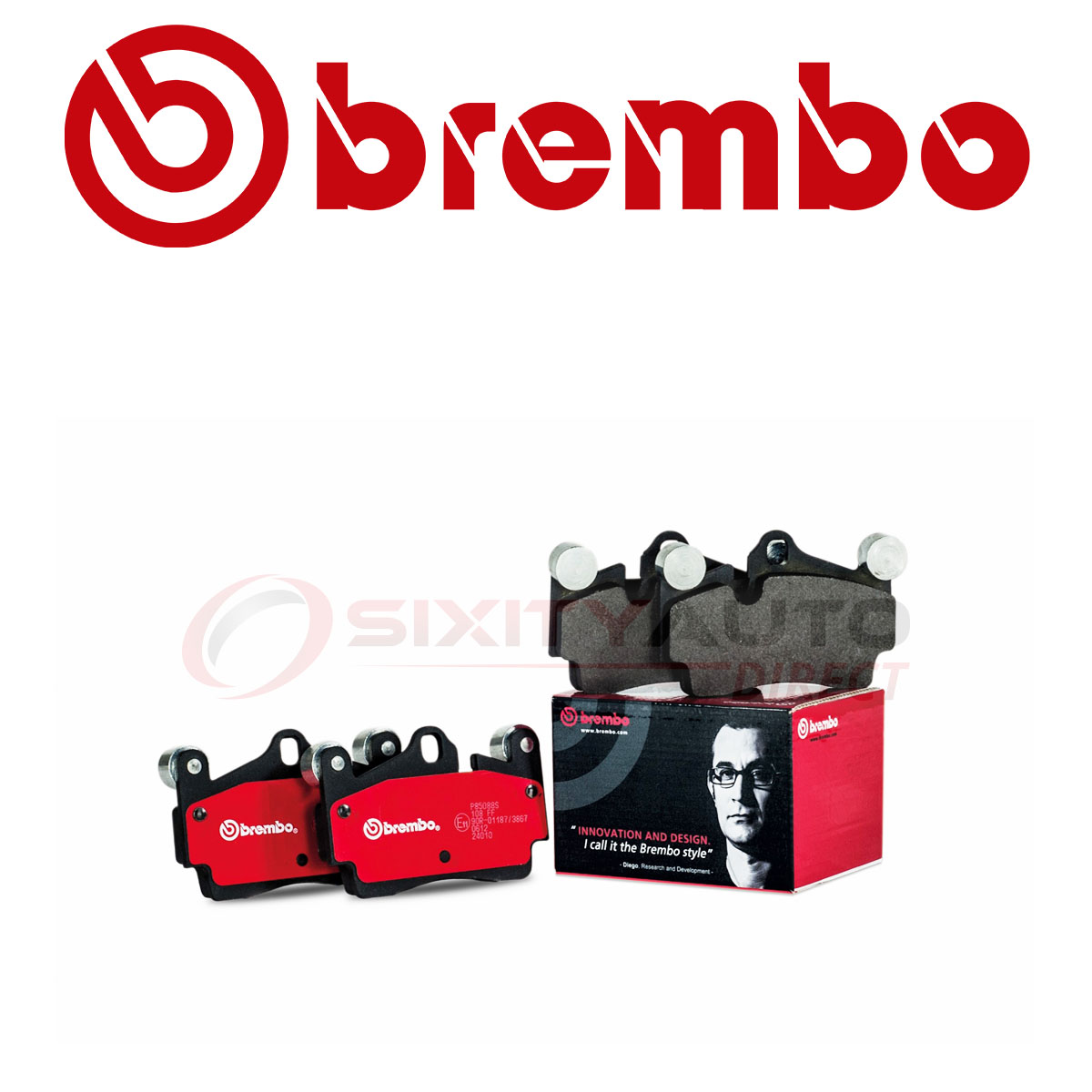 Brembo Front Disc Brake Pad Set For 2014-2018 Acura RDX