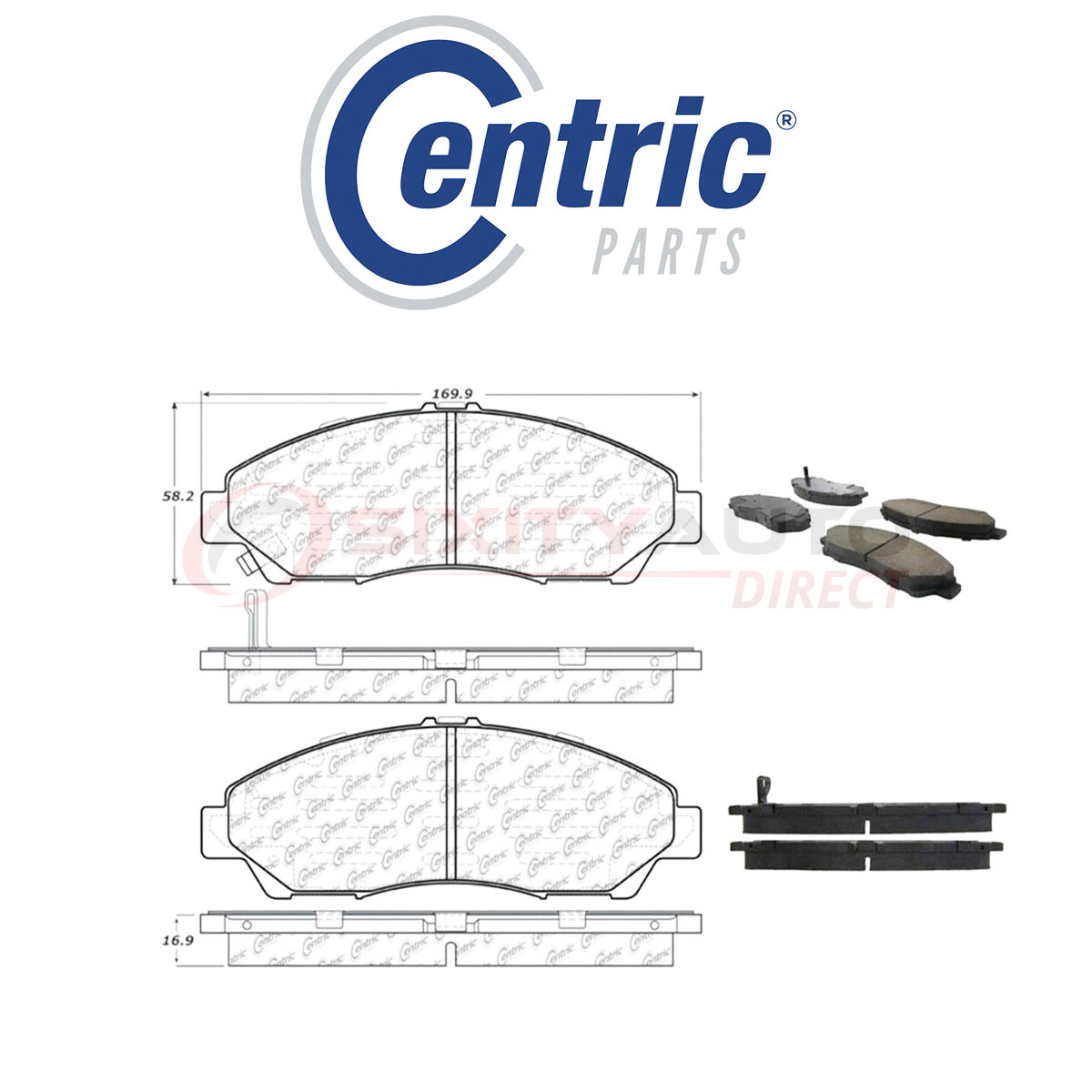 Centric C-TEK Ceramic Disc Brake Pads For 2014-2017 Acura