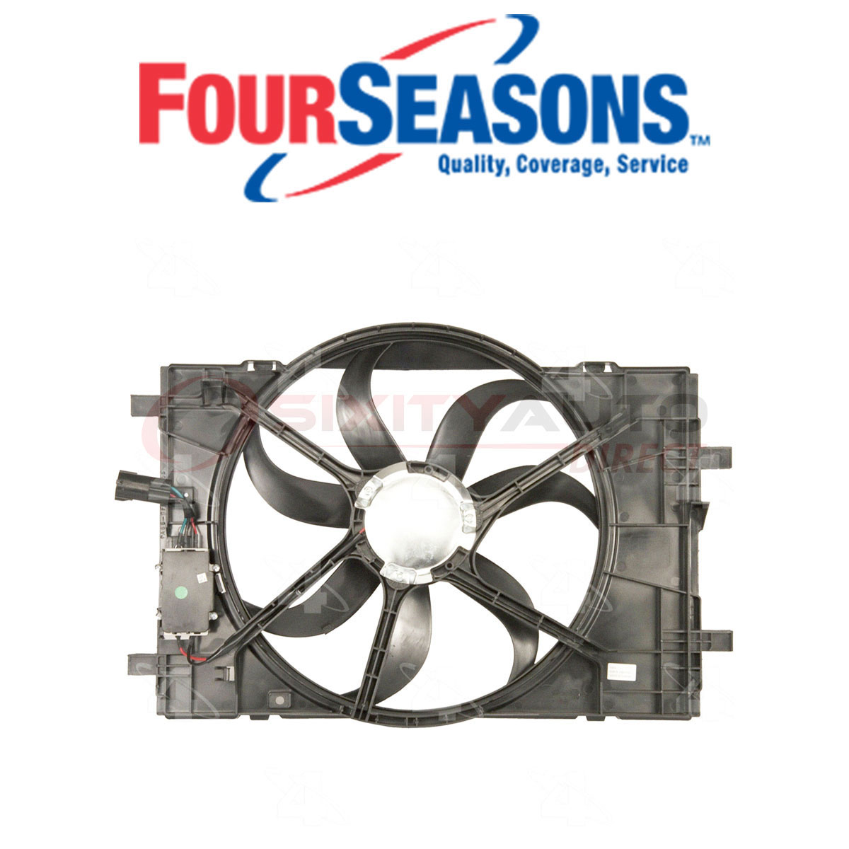 Four Seasons 76014 Cooling Radiator Fan Assembly for Engine Coolant Heating pl