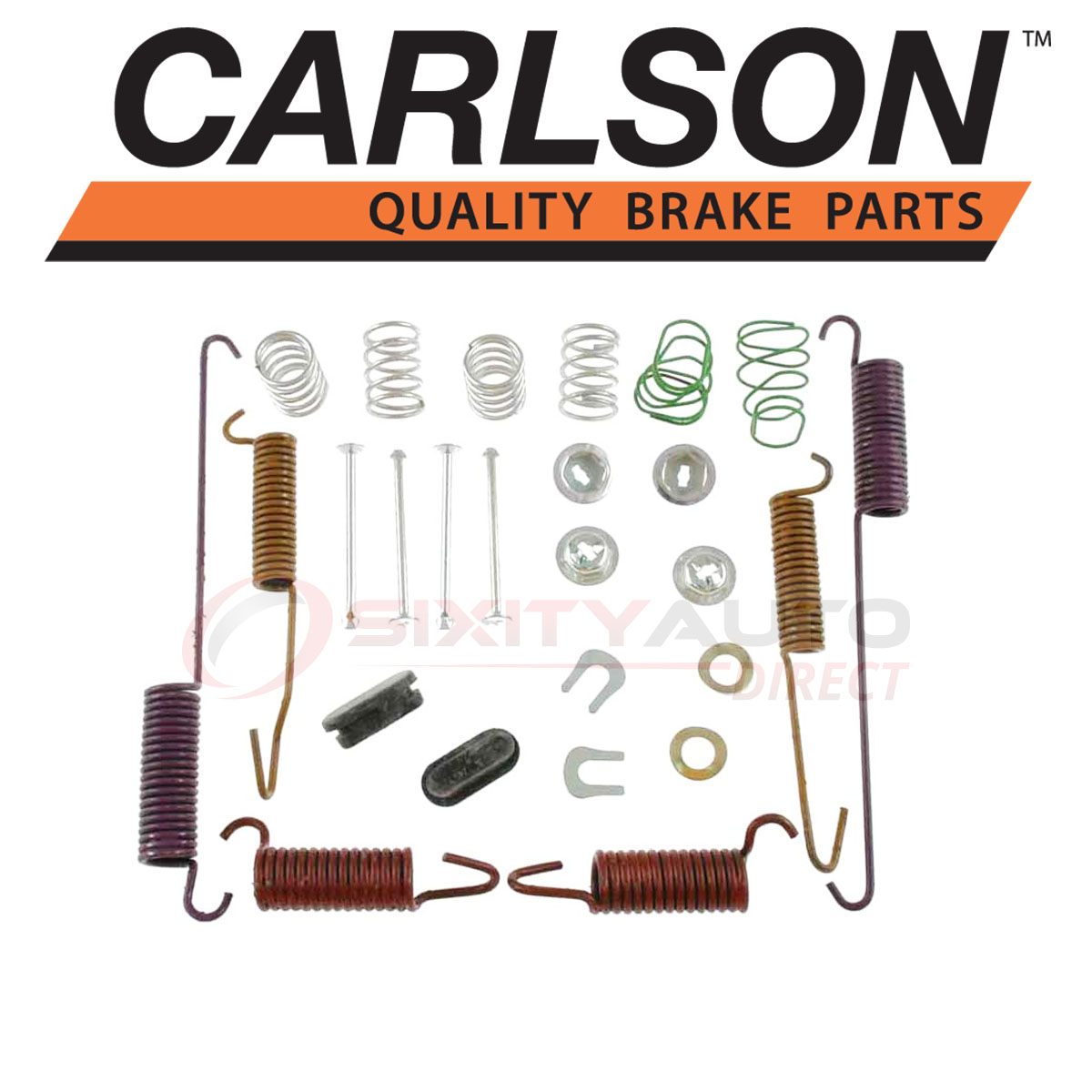 Shoe ar Carlson Rear Drum Brake Hardware Kit for 1994-1999 Dodge Ram 3500
