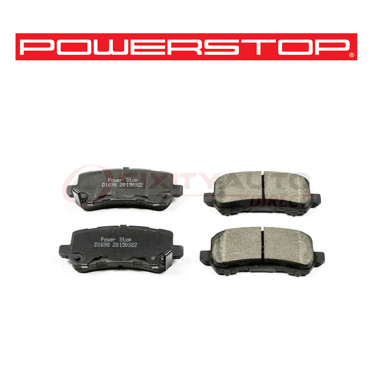 Power Stop Evolution Ceramic Disc Brake Pads For 2015-2018
