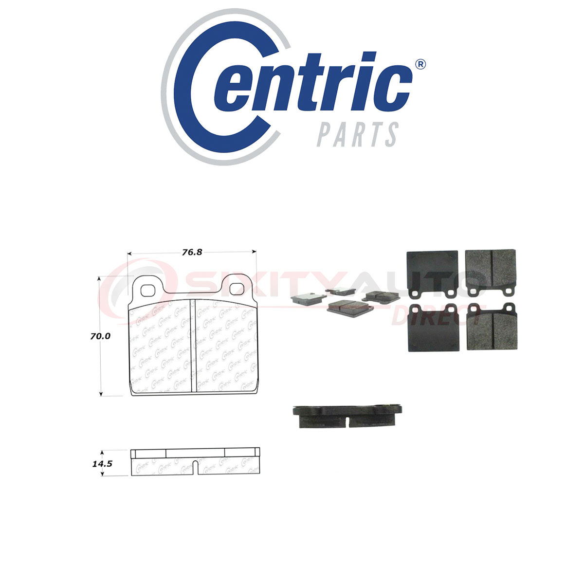 Centric Posi Quiet Metallic Brake Pads W Shims For 1969