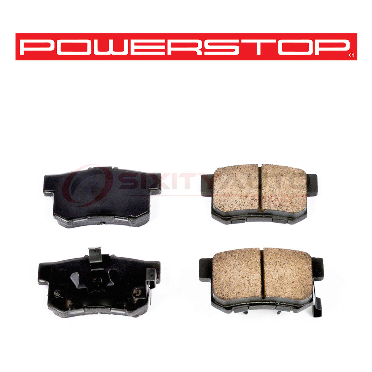 D898 FITS VEHICLES ON CHART BRAND NEW POWER STOP REAR BRAKE PADS 16-898