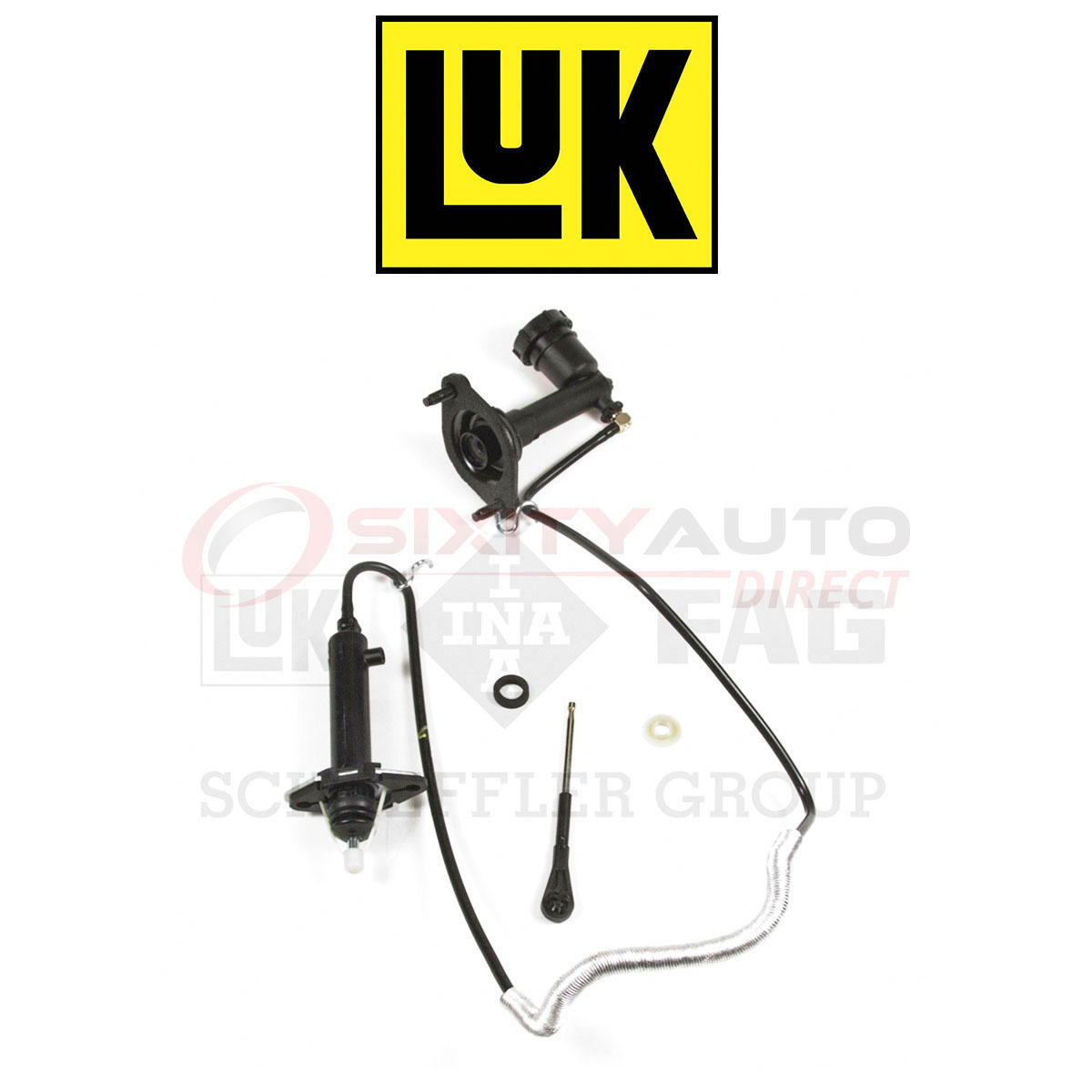 Clutch Master and Slave Cylinder Assembly fits 1997-1999 Jeep Wrangler  LUK AUTO