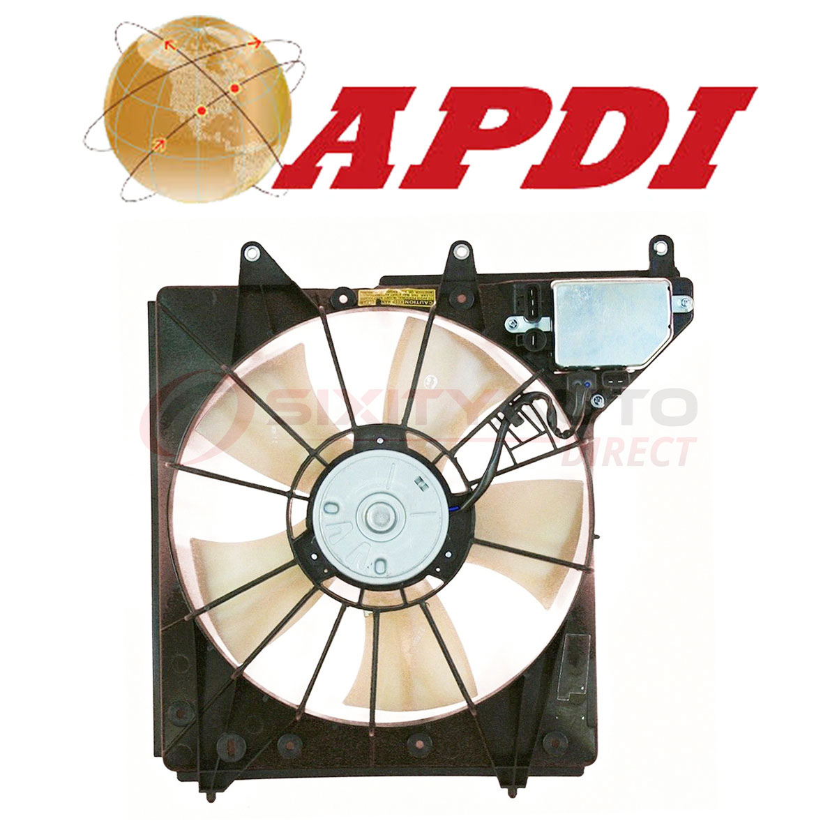 APDI Cooling Radiator Fan Assembly For 2005-2010 Acura RL