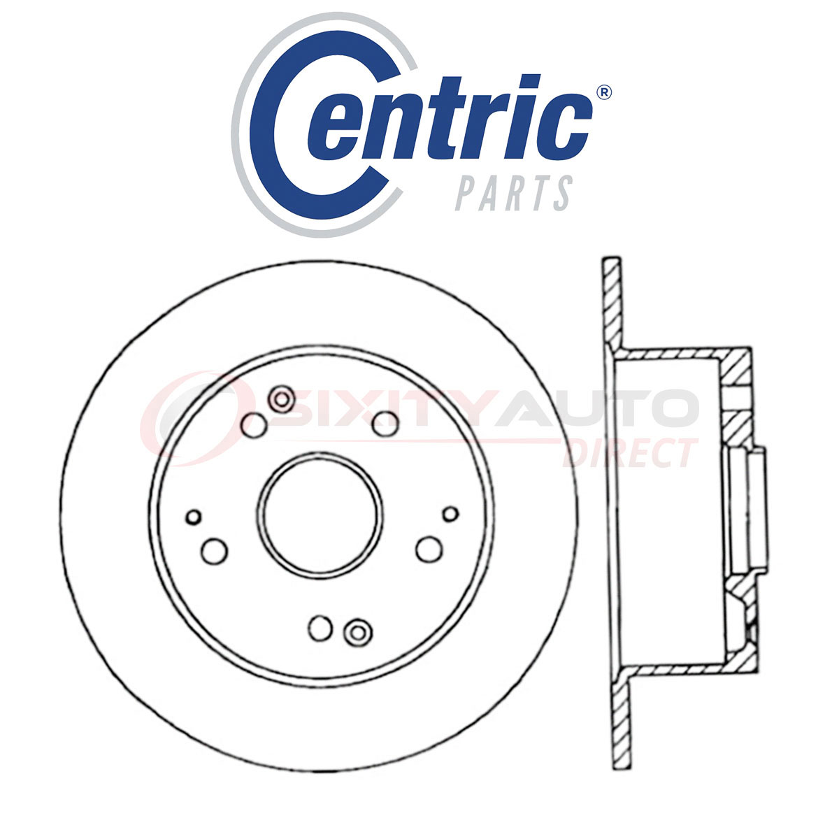 Centric C-TEK Disc Brake Rotor For 1996-1998 Acura TL 3.2L