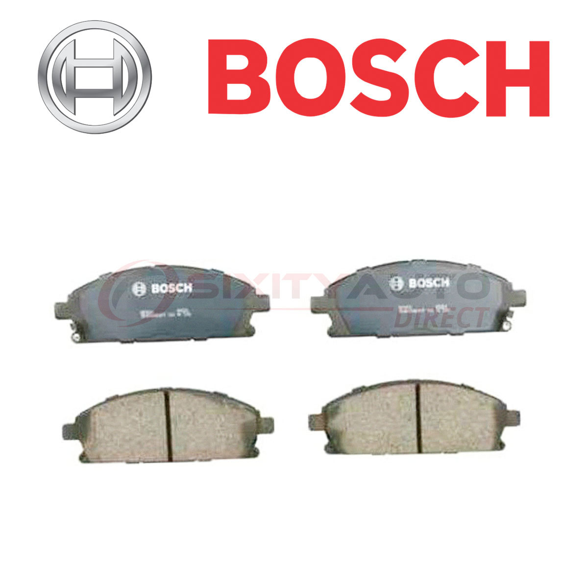 Bosch QuietCast Disc Brake Pads W Hardware For 2003-2006