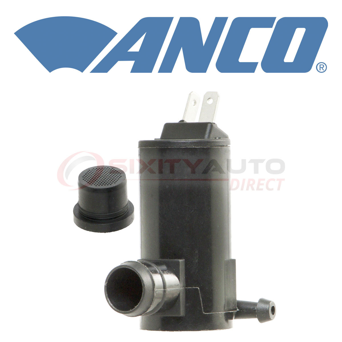 ANCO Windshield Washer Pump for 1994-1997 Ford F-350 Wiper Fluid gn