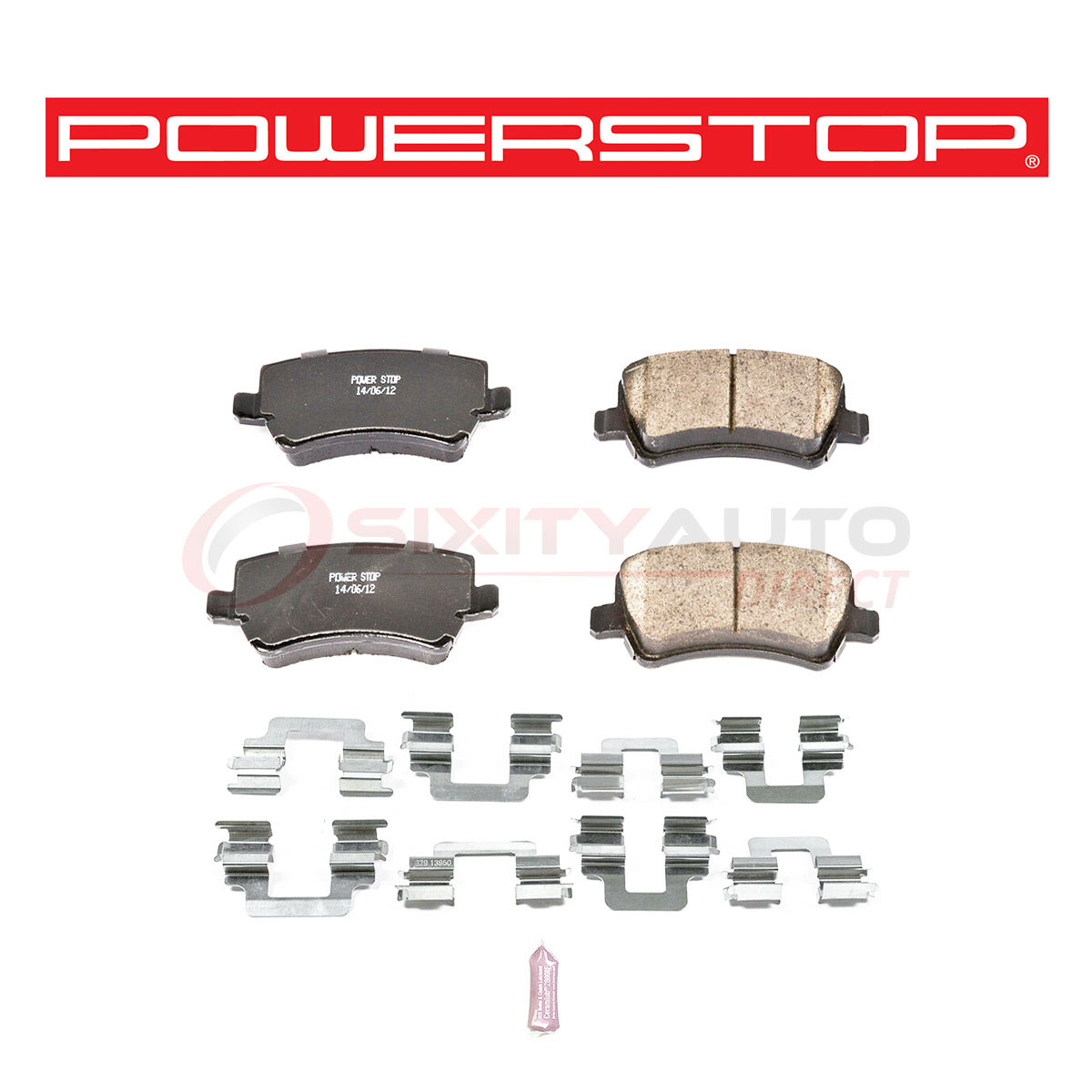 Disc Brake Pad Set Rear Power Stop 17-984