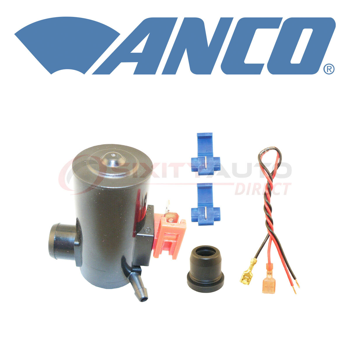 ANCO Windshield Washer Pump For 2005-2008 Acura RL 3.5L V6