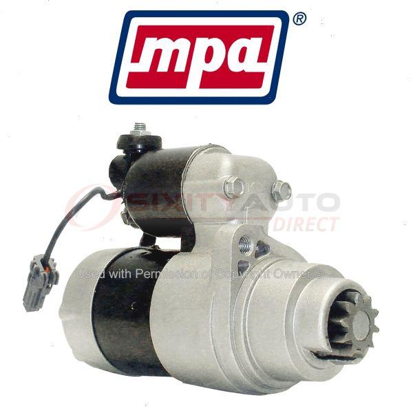 Mpa Starter Motor For 2003-2007 Nissan 350z